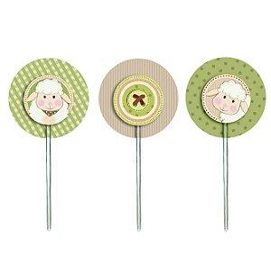 Pick para Cupcake Festa Carneirinho - 12 unidades - Cromus - Rizzo Festas