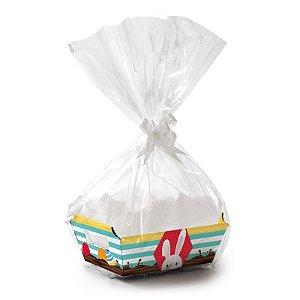 Kit Cesta De Papel Cartão P 18x13x7,5cm Adoleta - 01 unidade - Cromus Páscoa - Rizzo Embalagens