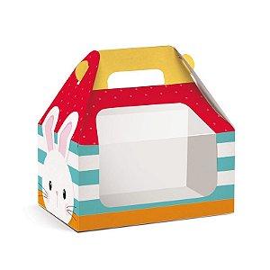 Caixa Maleta Kids com Visor Adoleta P 9x6x9cm - 10 unidades - Cromus Páscoa - Rizzo Embalagens