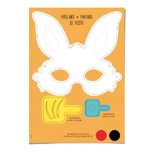 Kit Máscara para Colorir Coelho - 01 unidade - Cromus Páscoa - Rizzo Embalagens