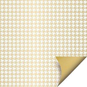 Folha para Ovos de Páscoa Double Face Tweed Ouro 69x89cm - 05 unidades - Cromus Páscoa - Rizzo Embalagens