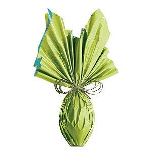 Folha para Ovos de Páscoa Double Face Acetinado Verde Turquesa 69x89cm - 05 unidades - Cromus Páscoa - Rizzo Embalagens