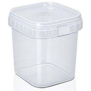 Pote com Lacre Quadrado 500ml com 10 unidades WS Plásticos Rizzo Embalagens