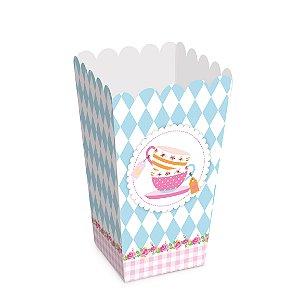 Caixa para Pipoca Festa Chá das Meninas - 10 unidades - Cromus - Rizzo Festas