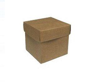 Caixa Cubo (4cm x 4cm) Kraft 10 unidades Assk Rizzo Embalagens