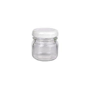 Potinho de Vidro Tampa de Metal Branca 40ml - Rizzo Embalagens