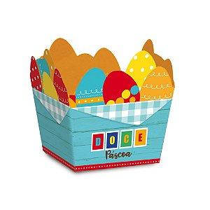 Cestinha de Páscoa Ovos Energia - 10 unidades - Cromus Páscoa - Rizzo Embalagens