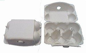 Mini Caixa Crú para 06 Ovos 50g - 01 unidade - Rizzo Embalagens