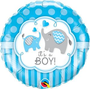 Balão Metalizado It's a Boy - 18'' - Qualatex - Rizzo festas