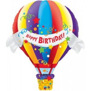 Balão Metalizado Balão de Ar Quente - 42'' - Qualatex - Rizzo festas