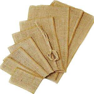 Saco de Juta para Lembrancinhas Nº 1 12x22cm 5 unidades - Rizzo Embalagens