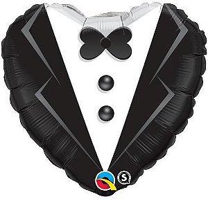 Balão Metalizado Smoking de casamento Festa Casamento - 18'' - 1 Unidade - Qualatex - Rizzo festas