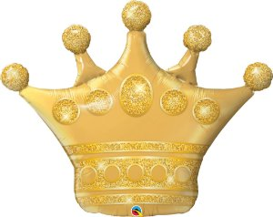 Balão Metalizado Coroa Dourada - 41'' - 1 Unidade - Qualatex - Rizzo festas