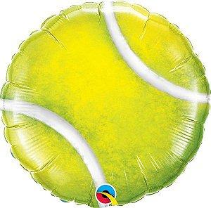 Balão Metalizado Bola de Tênis - 18'' - 1 Unidade - Qualatex - Rizzo festas