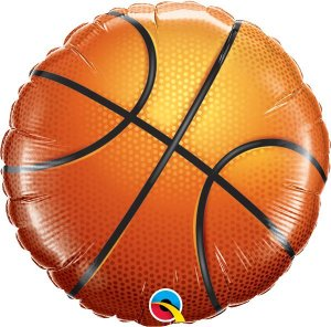 Balão Metalizado Basquete - 18'' - 1 Unidade - Qualatex - Rizzo festas