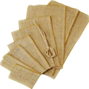 Saco de Juta para Garrafa 19x50cm 5 unidades - Rizzo Embalagens