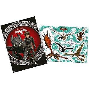 Kit Decorativo Festa Como Treinar o Seu Dragão - 6 Itens - Festcolor - Rizzo Festas