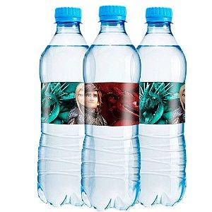Adesivo Rótulo de Água Festa Como Treinar o Seu Dragão - 6 unidades - Festcolor - Rizzo Festas