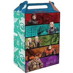 Caixa Surpresa Festa Como Treinar o Seu Dragão - 8 unidades - Festcolor - Rizzo Festas