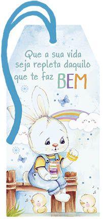 Tag de Páscoa Madeira Coelho com Macarons - LitoArte - Rizzo Embalagens