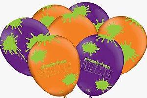 Balão Festa Slime - 25 unidades - Festcolor - Rizzo Festas