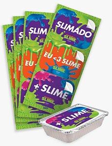 Adesivo Retangular Festa Slime - 12 unidades - Festcolor - Rizzo Festas