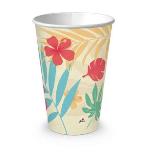 Copo de Papel Festa Tropical 200ml - 8 unidades - Junco - Rizzo Festas