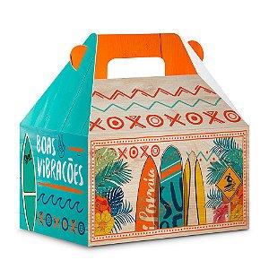 Caixa Maleta Festa Surf Tropical - 8 unidades - Junco - Rizzo Festas