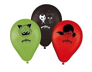 Balão Festa Miraculous - 25 Unidades - Regina - Rizzo Festas