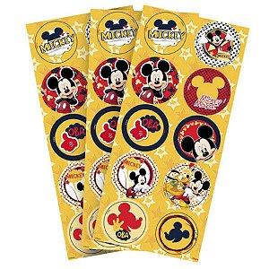 Adesivo Redondo para Lembrancinha Festa Mickey - 30 unidades - Regina - Rizzo Festas