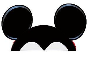 Orelha Festa Mickey Papel - 08 unidades - Regina - Rizzo Festas