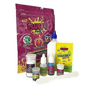 Kit Slime Fluffy Faça Você Mesmo com 8 itens - Rosa - Festa Slime - Rizzo Embalagens
