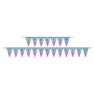 Faixa Feliz Aniversário Festa Surprise - Junco - Rizzo Festas