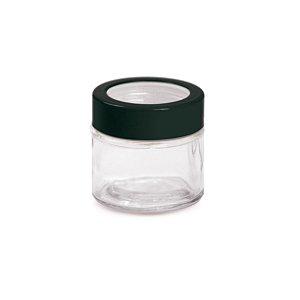 Potinho de Vidro 90ml com Tampa Preta - 6 x 6 x 6 - Cromus - Rizzo Embalagens