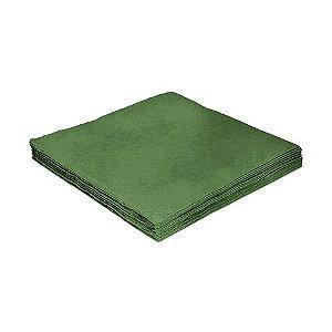 Guardanapo Liso Verde - 24cm - 20 unidades - Silver Festas - Rizzo Festas