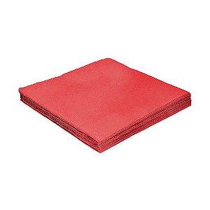 Guardanapo Liso Vermelho - 24cm - 20 unidades - Silver Festas - Rizzo Festas