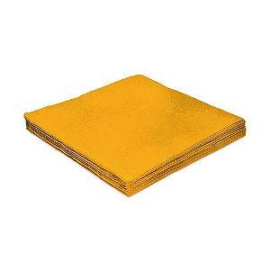 Guardanapo Liso Amarelo - 24cm - 20 unidades - Silver Festas - Rizzo Festas