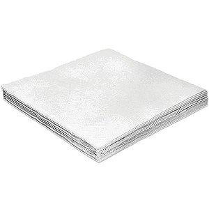 Guardanapo Liso Branco - 32cm - 20 unidades - Silver Festas - Rizzo Festas