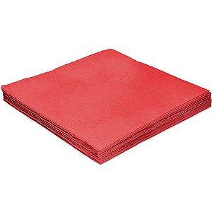 Guardanapo Liso Vermelho - 32cm - 20 unidades - Silver Festas - Rizzo Festas