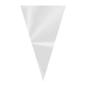 Cone Transparente 14x23cm - 50 unidades - Cromus Páscoa - Rizzo Embalagens