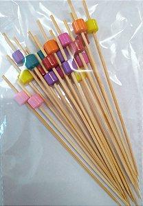 Palito Petiscos de Bambu 12cm - 20 unidades - Silver Festas - Rizzo Festas