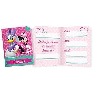 Convite P Festa Minnie Rosa - 8 unidades - Regina - Rizzo Festas
