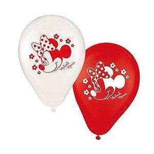 Balão Festa Minnie - 25 unidades - Regina - Rizzo Festas