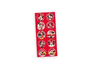 Adesivo Redondo para Lembrancinha Festa Minnie - 30 unidades - Regina - Rizzo Festas