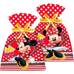 Sacolinha Surpresa Festa Minnie - 8 unidades - Regina - Rizzo Festas