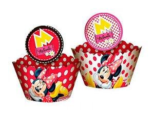 Forminha Wrap para Cupcake Festa Minnie - 12 unidades - Regina - Rizzo Festas