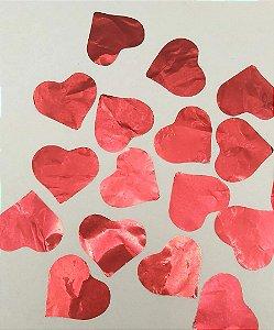 Confete Coração Vermelho Metalizado para Balão - Estilo e Festas Rizzo Festas