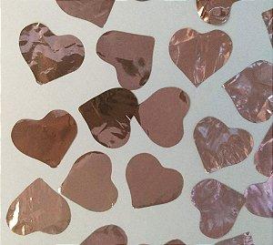Confete Coração Rose Gold Metalizado para Balão - Estilo e Festas Rizzo Festas