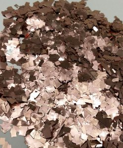 Confete Rose Metalizado Quadrado para Balão - 1cm x 1cm - Estilo e Festas Rizzo Festas