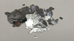 Confete Prata Metalizado Quadrado para Balão - 1cm x 1cm - Estilo e Festas Rizzo Festas